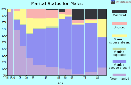 Yankton marital status for males