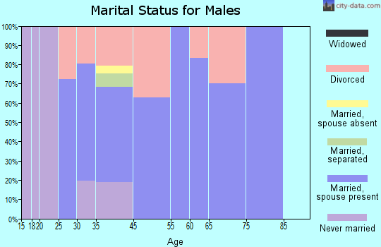 Lake Nacimiento marital status for males