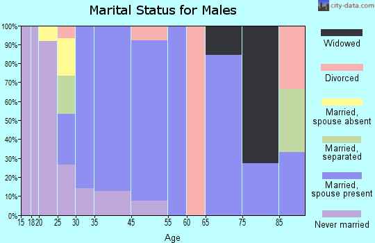 Moscow marital status for males