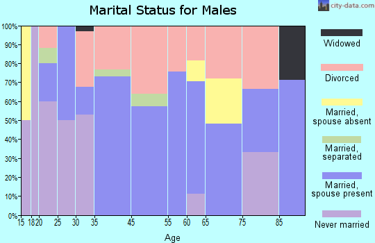 Tellico Plains marital status for males