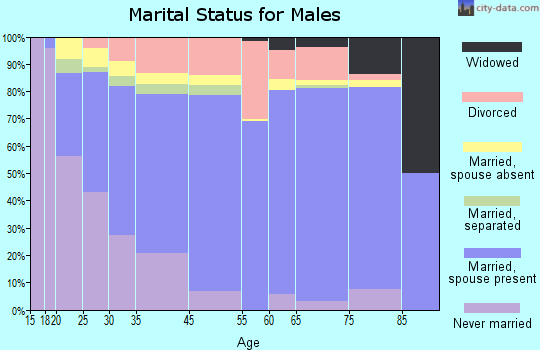 Dickinson marital status for males