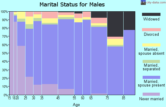 Eagle Pass marital status for males