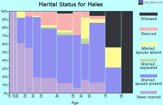 Navasota marital status for males