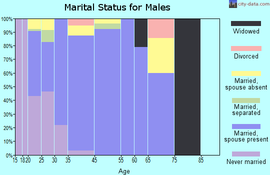 West Sharyland marital status for males