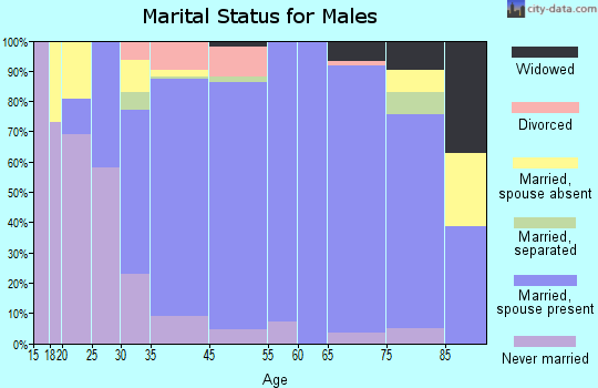 Bridgewater marital status for males