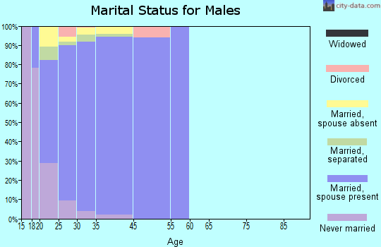 Fort Belvoir marital status for males