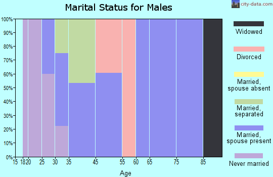 Max Meadows marital status for males