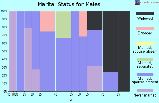 Sandy Level marital status for males