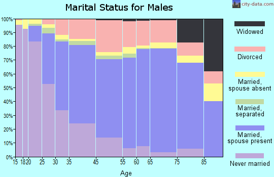 Renton marital status for males