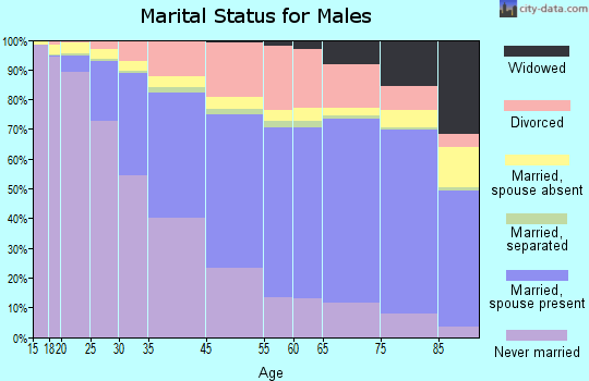 Seattle marital status for males
