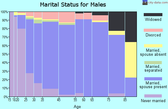 South Hill marital status for males