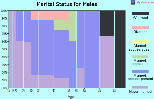 South Prairie marital status for males