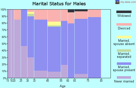 Rio Vista marital status for males