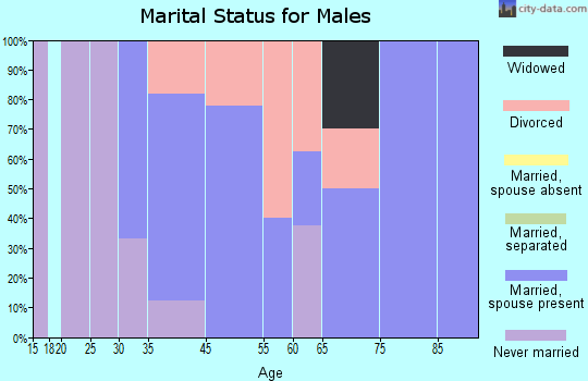 Union Center marital status for males