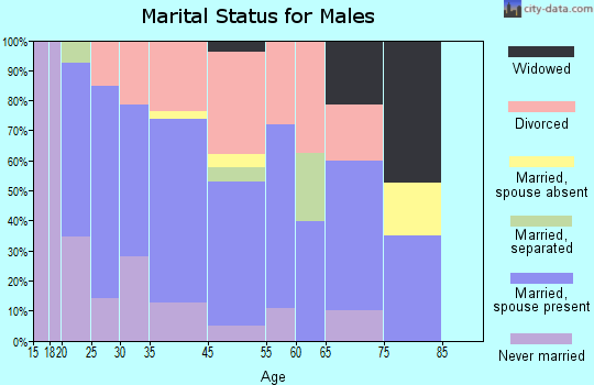 South Greeley marital status for males