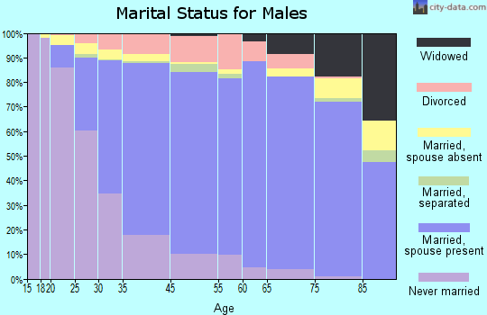 Temple City marital status for males