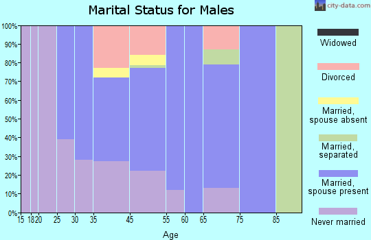 Willow Creek marital status for males