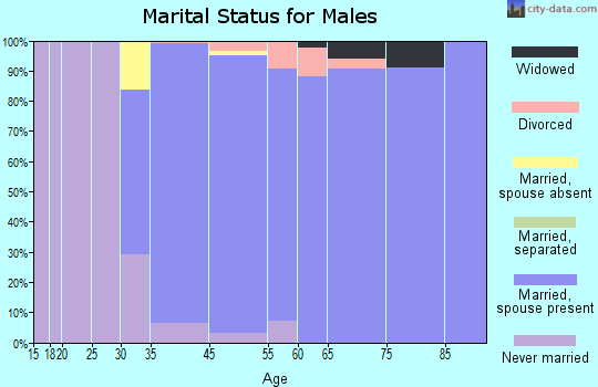 Cherry Hills Village marital status for males
