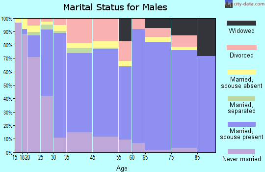 Fort Morgan marital status for males