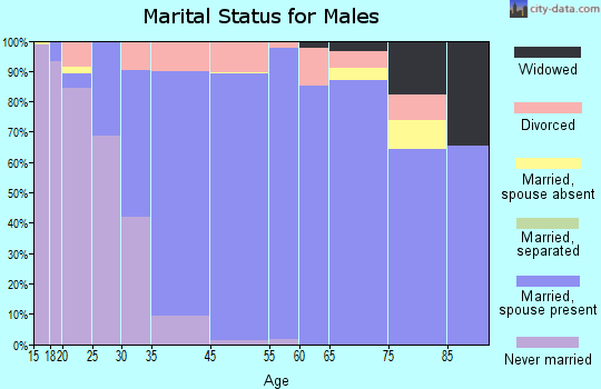 Greenwood Village marital status for males