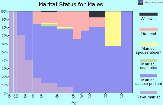Palmer Lake marital status for males