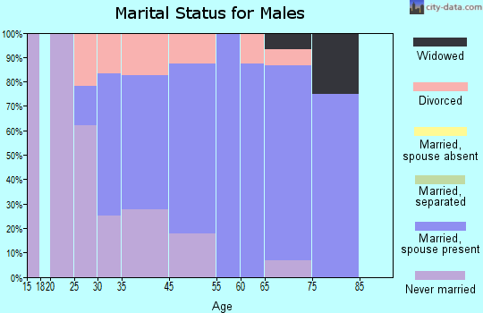 Saybrook Manor marital status for males