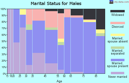 Beverly Hills marital status for males