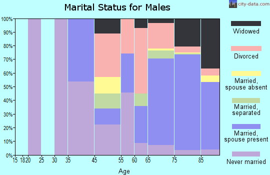 Century Village marital status for males