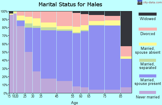 Coral Terrace marital status for males