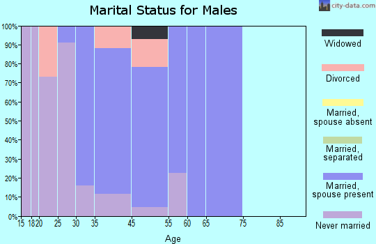 Country Estates marital status for males