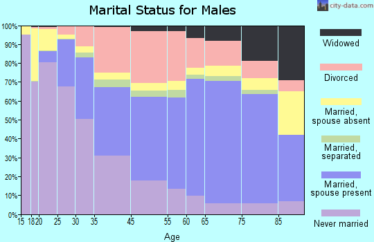 Daytona Beach marital status for males