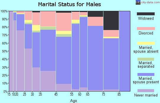 Fort Walton Beach marital status for males