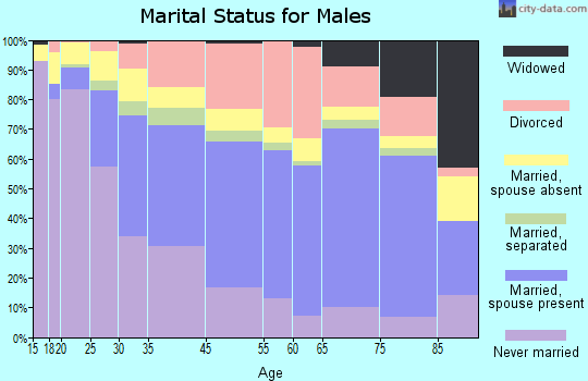 Lake Worth marital status for males