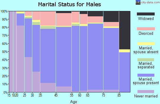 Palm Bay marital status for males