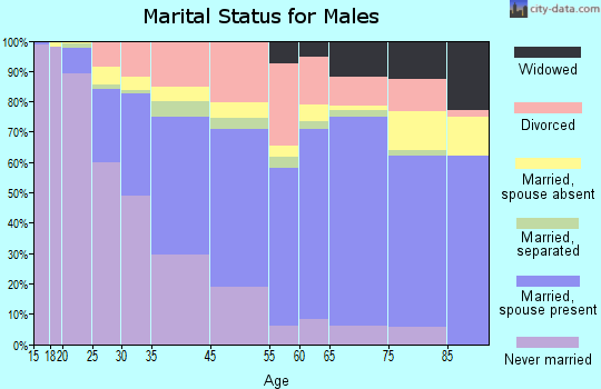 Riviera Beach marital status for males