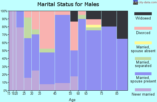 Zephyrhills South marital status for males