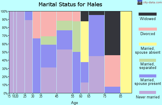 Pineview marital status for males