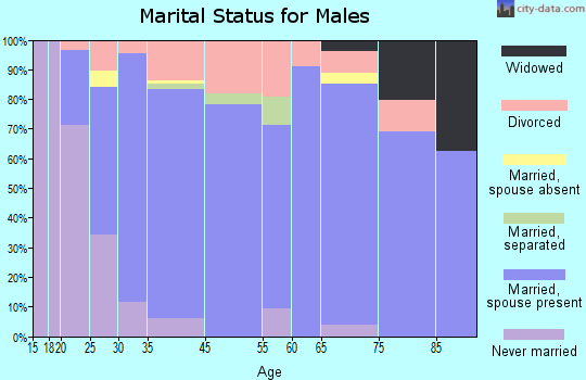 Glenns Ferry marital status for males