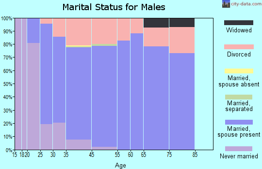 Coal Valley marital status for males