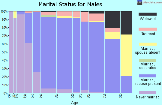 Deerfield marital status for males