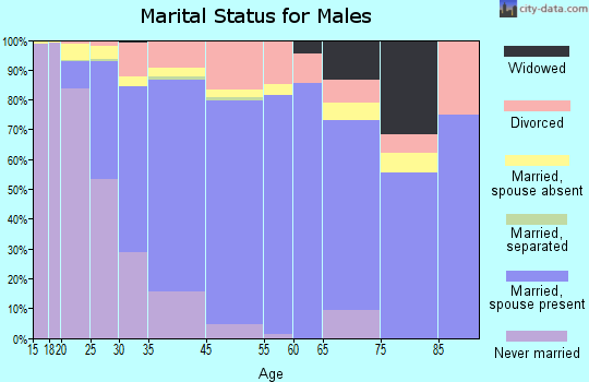 Glendale Heights marital status for males