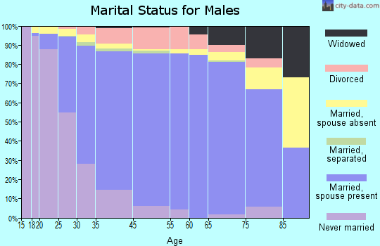 Hoffman Estates marital status for males