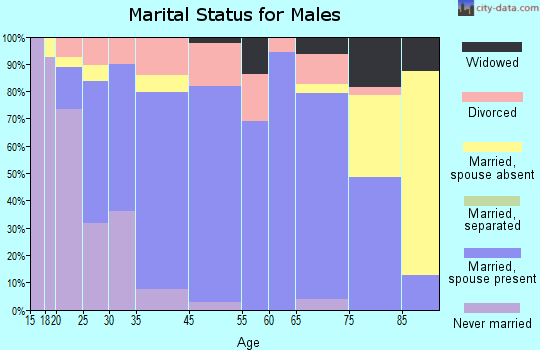 Lawrenceville marital status for males