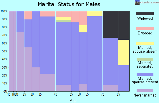 McLeansboro marital status for males
