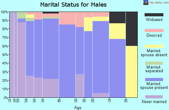 Maryville marital status for males