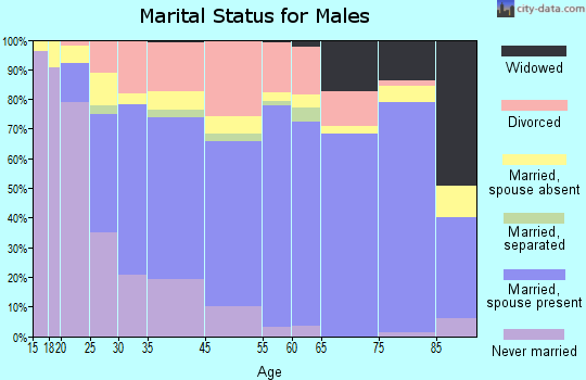 Logansport marital status for males