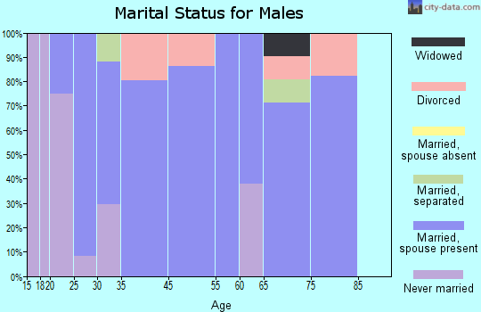 Plainville marital status for males