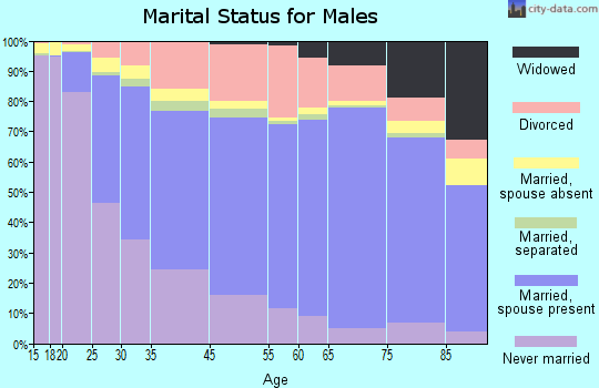 South Bend marital status for males