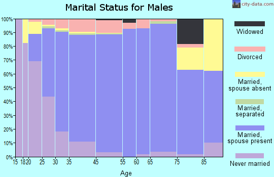 Ankeny marital status for males