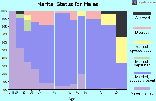 New Sharon marital status for males